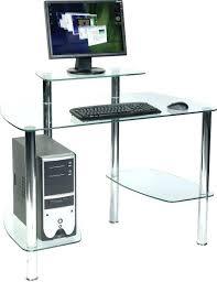 clear glass computer desk design contempo top clear glass computer desk corner silver
