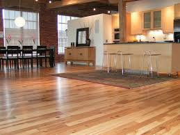 Warm Kitchen Flooring Options Black Cabinet On The Wooden Floor Modern Kitchen Wood Floors With