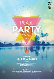 Summer Pool Party Free Flyer Template Freepsdflyer