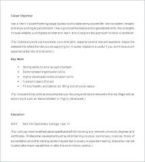 Student Cv Template No Experience Resume Templates For High School Students With No Experience Resume