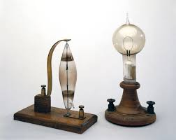 1879 Electric Light Bulb Electric Filament Lamps Made By Swan Left And Edison