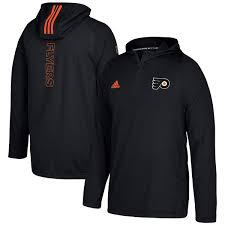 adidas quarter zip. men\u0027s philadelphia flyers adidas black authentic training quarter-zip pullover hooded jacket 1 quarter zip t