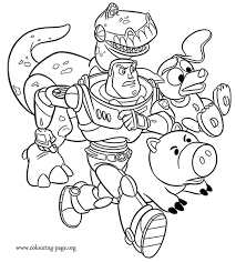 Small Picture In this awesome coloring page Buzz Lightyear is accompanied by