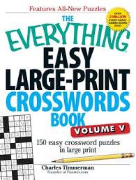 the everything easy large print crosswords book volume v