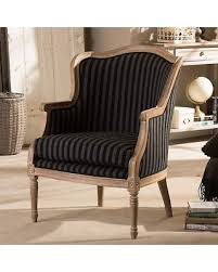 baxton studio charlemagne traditional french black and grey striped accent chair chairblack striped accent chair c88