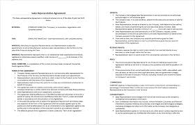 Sales Agent Contracts Sales Agent Agreement Template Australia Format Contract Free Uk 1