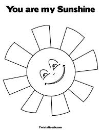 Sun Template Printable Sunshine Template With Red Paint And Sponges Sun