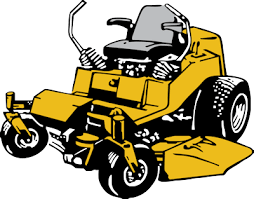 commercial lawn mower silhouette. lawn mower commercial mowing clipart silhouette e