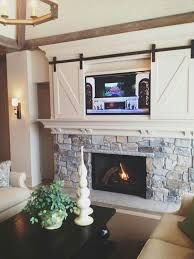 rustic style living room clever: cool farmhouse style hidden tv  cool farmhouse style hidden tv