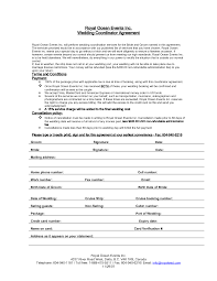 Free Wedding Planner Contract Templates 002 Wedding Coordinator Contract Template Ideas Awesome