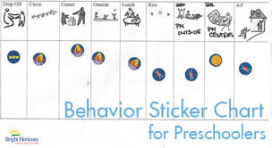 Sticker Charts For Preschoolers Preschool Sticker Chart The Family Room Bright Horizons