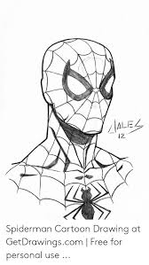 ale iz spiderman cartoon drawing at