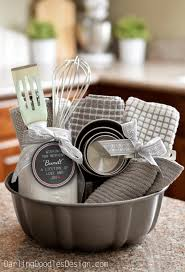 Exceptional DIY Housewarming Gifts   Adorable Bundt Gift Basket  Best Do It Yourself Gift  Ideas For