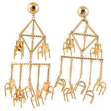 chair earrings. please have a seat tree chair earrings t