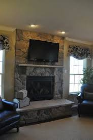 stone fireplace design ideas with tv above basement remodel pinterest stone designs fireplace and fireplaces lighting s66 lighting