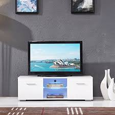 glossy white tv stand. Wonderful Glossy SUNCOO TV Stand Media Console Cabinet LED Shelves With 2 Drawers For Living  Room Storage High On Glossy White Tv