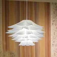 diy home lighting. Amazing Of Lotus Pendant Light White Iq Chandelier Diy Pp Lamp Suspension Home Lighting