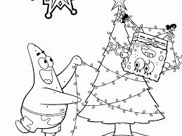 Spongebob And Patrick Christmas Coloring Pages Best Cartoon