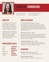 red cv template