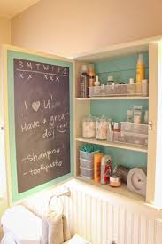 the inside of the medicine cabinet door can become useful with chalkboard 15 expressive diy chalkboard paint projects