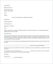Business Proposal Templates Letter Samples With Sample Offer Pdf ...