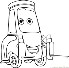 Small Picture Guido from Cars 3 Coloring Page Free Cars 3 Coloring Pages