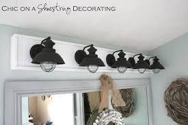 home decor bathroom lighting fixtures. DIY Bathroom Light Fixture By Chic On A Shoestring Decorating Home Decor Bathroom Lighting Fixtures