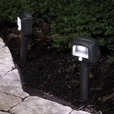garden path lights. Mr Beams Battery Operated LED Garden Path Lights With PIR Sensor - Set Of 2 E