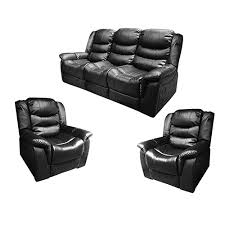 black recliner couch.  Black Alan Black Recliner Sofa 311 Seater Couch In L
