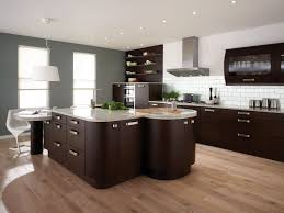 Modern Kitchen Flooring Modern Kitchen And Living Room Design With Black Table And Chairs