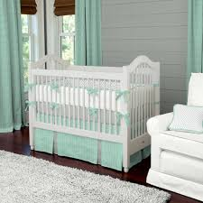 luxury baby bedding with green white crib bedding sets mint green curtains length mint