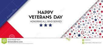 vector banner for veterans day facebook size