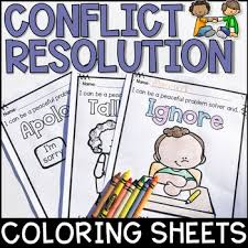 Conflict Resolution Coloring Sheets Freebie By The Responsive Counselor