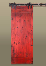 red sliding barn door. Fabulous Red Sliding Barn Door With Doors Sunburst Shutters Las Vegas Nv