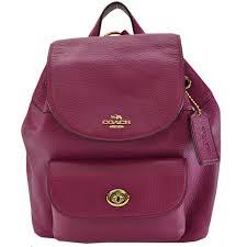 brandvalue rakuten global market coach coach rucksack purple system pink leather backpack lady s r6415