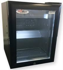 dellware milk fridge with glass door