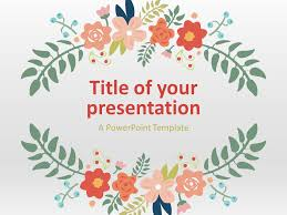 Spring Powerpoint Background Floral Spring Template For Powerpoint And Google Slides