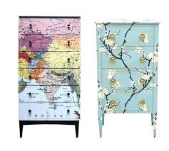 diy decoupage furniture. Decoupage Ideas For Furniture Map Chest Of Drawers By Porter Price . Diy