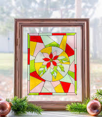 make a faux stained glass window out of transpa glitter vinyl