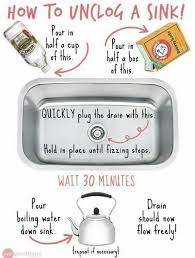 you unblock a drain with baking soda