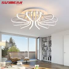 lighting options for living room. New Acrylic Modern Led Ceiling Lights For Living Room Plafon Home Lighting Dimming Lamp Options
