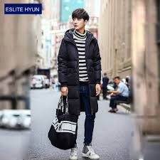 winter jacket quilted long coat parka warm down length for men new latest thumbnail extra images 0