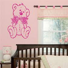 nursery baby teddy bear wall art sticker transfer decal 100 charity on teddy bear wall art for nursery with nursery baby teddy bear wall art sticker transfer decal 100 charity