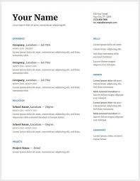 Google Docs Resume Template Free Amazing Unbelievable Google Docs Resume Template Templates Free Download
