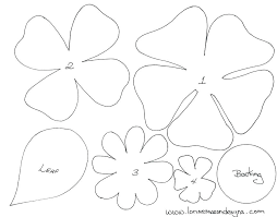 Paper Flower Petal Template Large Flower Petals Anyone Can Craft Free Printable Paper Flower