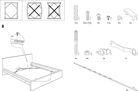 Download IKEA MALM BED FRAME FULL DOUBLE Assembly Instruction for
