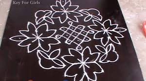 beautiful rangoli designs with flowers by indian key for s