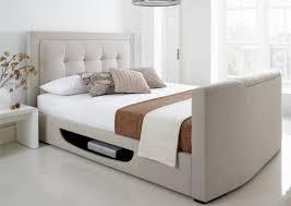 Kaydian Bowburn Upholstered TV Bed - Oatmeal Fabric ...