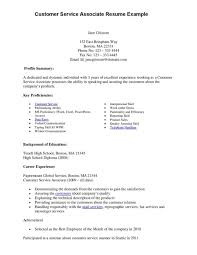 Brilliant Ideas Of Customer Service Representative Resume Sample