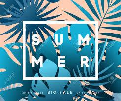 夏バナー熱帯背景夏のシーズンのデザイン ポスターを葉します の写真